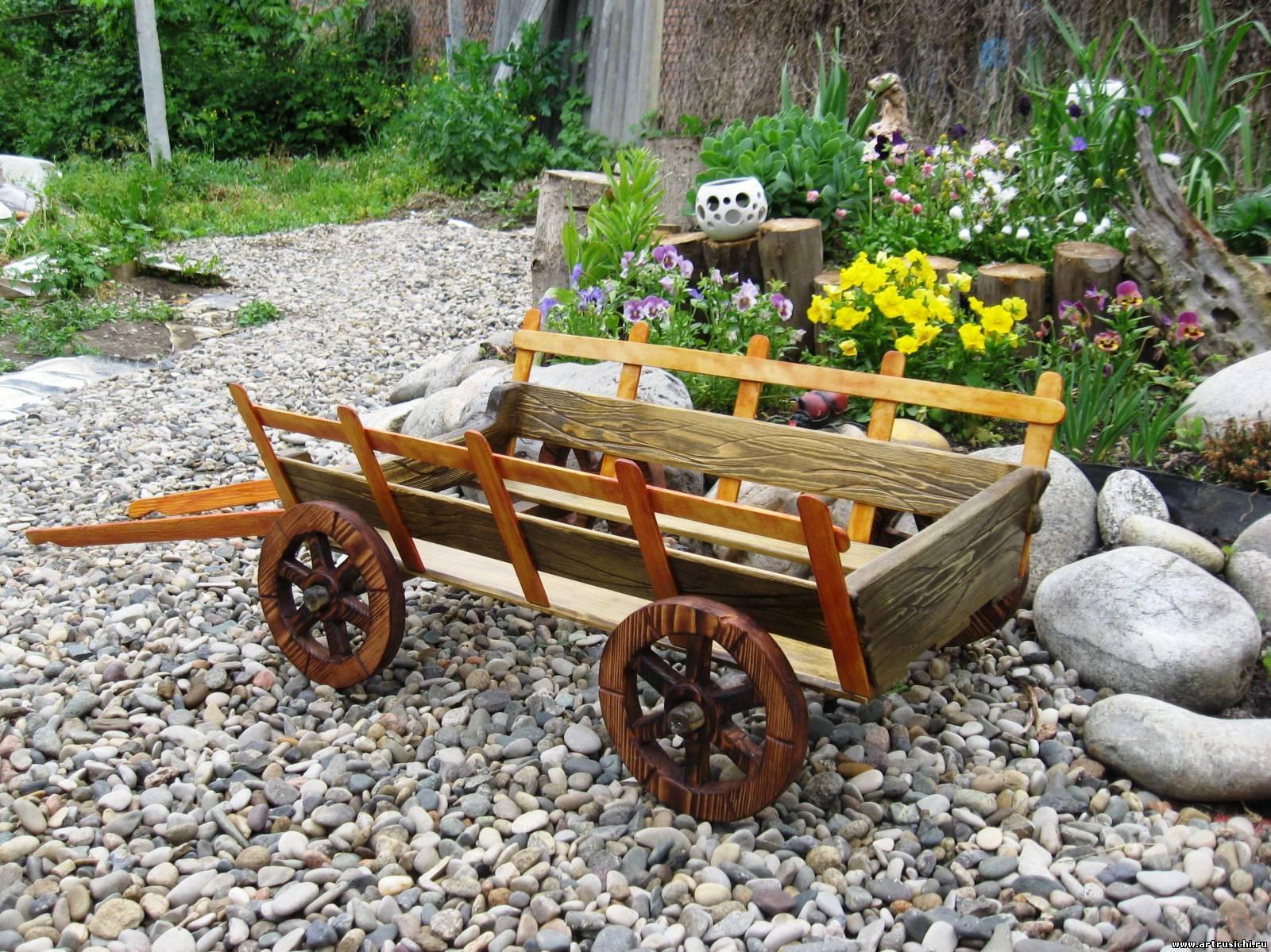 Как своими руками сделать телегу в сад 201